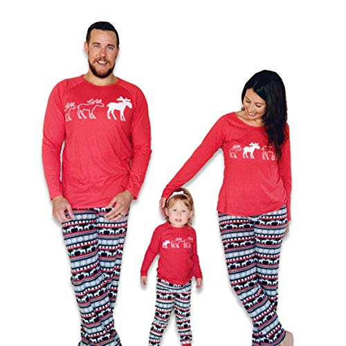 JumpOff Jo - Matching Family, Mens, Womens, Kids, Infant Pajamas Set, Moose, Size 4