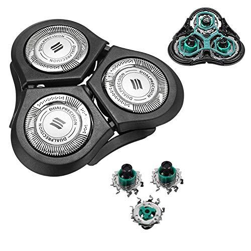 CORABLADE RQ11 Ersatzköpfe für Philips Norelco RQ1150 RQ1160 RQ1180 RQ1175 RQ1195 ersatzteil 2D Scherköpfe (NUR AUSTAUSCH DES OBEREN/HALBEN KOPFES)