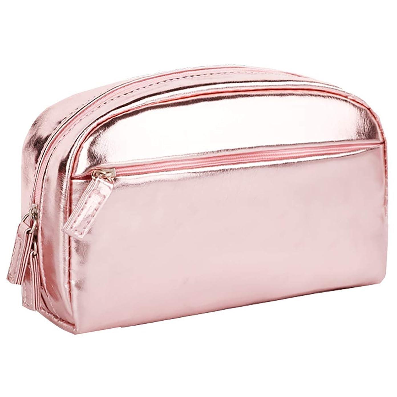 悔い改める件名手綱化粧品のバッグ女性のポータブルシンプルな大容量多機能女の子の心の袋の収納袋ピンク19.5 * 7 * 12CM