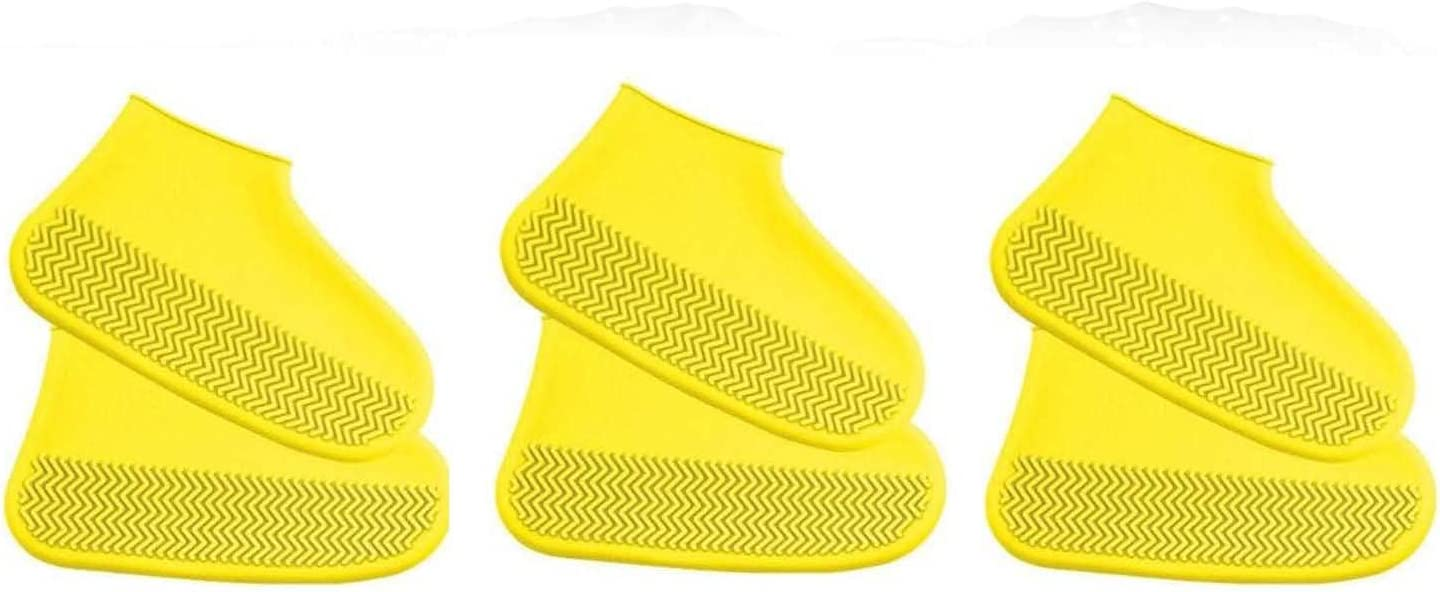 Reusable Silicone Rain Boot Waterproof Shoes - Brand Max 76% OFF new Cover Pcs 3 Trans