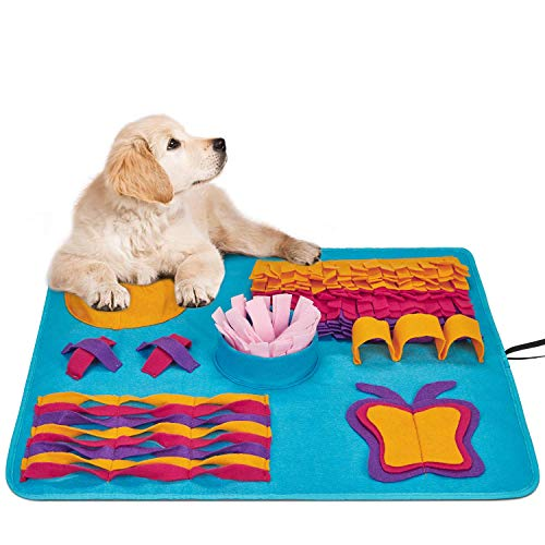 Snuffle Mat for Dogs Small Large Pets - Distracting Training Natural Foraging Snuffling Nose Work Training for Dogs Stress Release Slow Eat Machine Washable Anti Slip