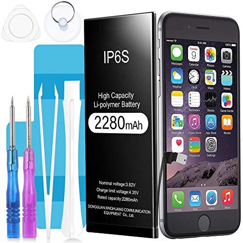 Akku für iPhone 6S 2280mAh, Sufi Hochleistungs-Li-Polymer-Akku Batterie mit komplettem Repair Tool Kit Klebstoff und Anweisungen
