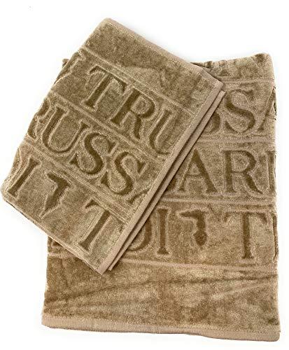 Trussardi Home Linnen Art overlogo handdoeken van badstof en hydrofiele binnenin (1 + 1 gezicht + gasten)