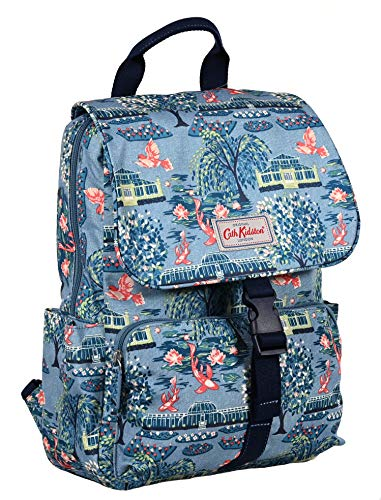Cath Kidston Buckled Backpack in Botanical Gardens Design in Blue Oilcloth