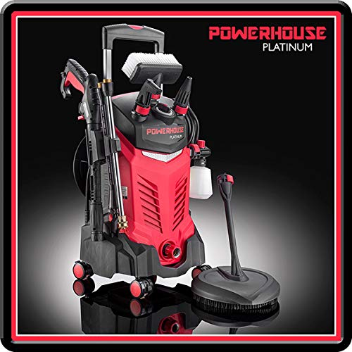 Powerhouse International - New Platinum Electric Pressure Washer with M22 14mm Hose Adaptor and Patio Cleaner