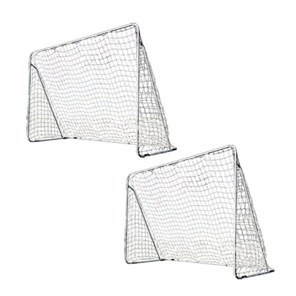 トラフ祭り血室内 屋外兼用 フットサルゴール 2台セット 3m×2m 公式サイズ キャリーバッグ&土嚢袋付き ESFG-001