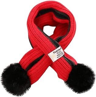 Child Plush Velvet Scarf Bib,BZLine Kid Cartoon Rabbit Scarves Boys Girls Soft Scarves Lovely Muffler Winter Warm Scarf Pure Color Neckerchiefs Collar