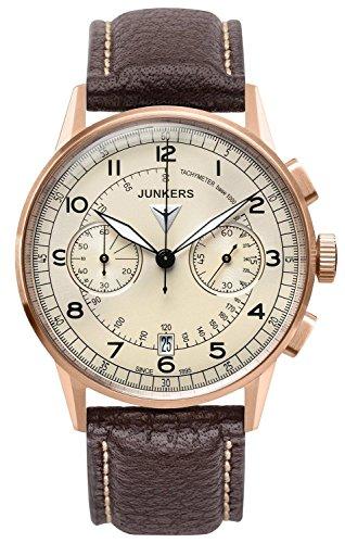 Junkers Herren Chronograph Quarz Uhr mit Leder Armband 69721