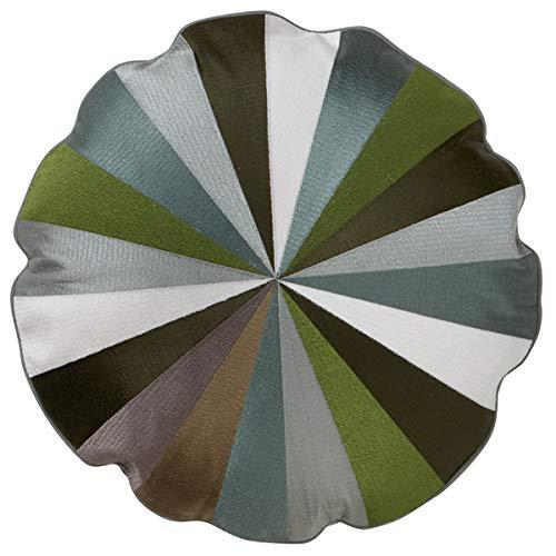 Bungalow - Kissen, Statement Kissen, Zierkissen - Circus - Farbe: Ivy - Ø: 45 cm - mit Füllung
