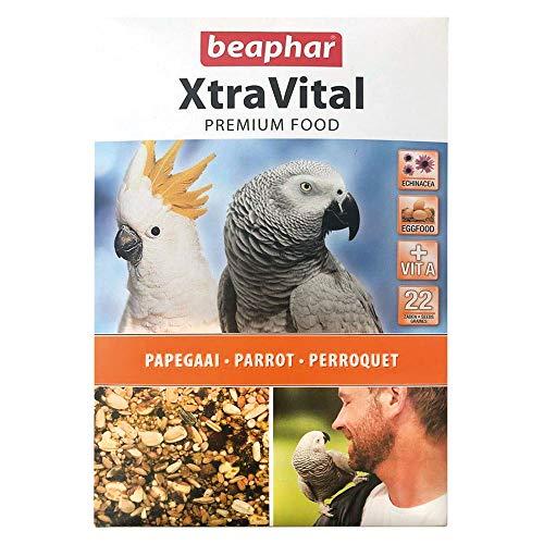 BEAPHAR – XTRAVITAL – Alimentation pour perroquet – Contient des fruits, graines et œufs – Renforce le système immunitaire – Procure un beau plumage et maintient en bonne santé – 1kg