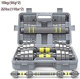 LZMXXQ 10 kg / 22bls Einstellbare Yaling Anzug Kombination Langhantel, Hantel mit Pleuelstangen,...