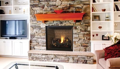 Great Features Of Superior 45 Power Vent Louverless NG Fireplace w/Herringbone Liner