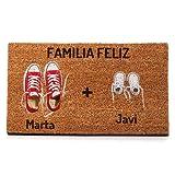 NANNUK - Felpudo Personalizado Fibra de Coco Familia 1+1