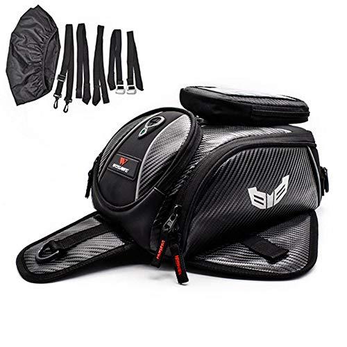 funnyfeng Mochila de depósito para moto, bolsa de viaje, impermeable, depósito de combustible, bolsa de deporte al aire libre, paquete para motos