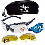 C2 Top Focal Magnifying Shooting Safety Glasses, 7 Frame Colors (Frame Color: Blue, Magnifier: 2)