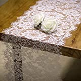RUSPEPA Tischläufer Weiße Spitze – Vintage Spitze Weiß Stoff Tischband Für Hochzeit Party Dekoration - 28 cm x 300 cm
