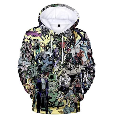 Siawasey Anime JoJo's Bizarre Adventure Hoodie Jacket Hoody Pullovers Sweatshirt Fleeces Costume