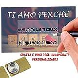 Gratta E Vinci Personalizzato Degli Innamorati Horus Creations - 6 Biglietti 'Ti Amo Perché'...