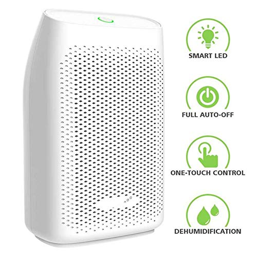 Buy Bargain LOISK 700ml Electric Dehumidifier, Removes Humidity 300ml per Day, Detachable Water Tank, LED Indicator, Auto-Off, Efficient, Portable, Quiet, No Need Refill