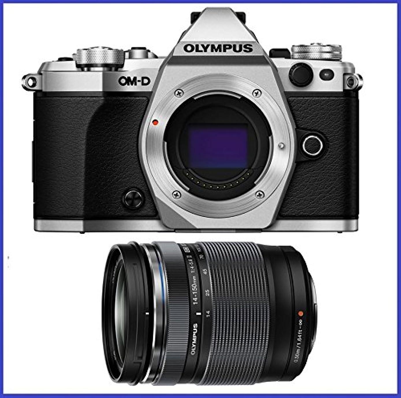 OM-D E-M5 Mark II Mirrorless Micro Four Thirds Digital Camera (Body, Silver) + Olympus M.Zuiko ED 14-150mm f/4-5.6 II Lens