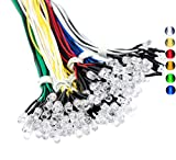 120PCS 6 Color Ultra Bright 12v Pre Wired LED Diodes Light -White Red Blue Green Yellow Warm White