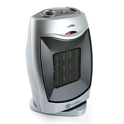 Grafner® Keramik-Heizlüfter | 1500 Watt | mit Rotation | 2 Heizstufen | 1 Kaltstufe (Ventilator) | Kippsicherung | Überhitzungsschutz
