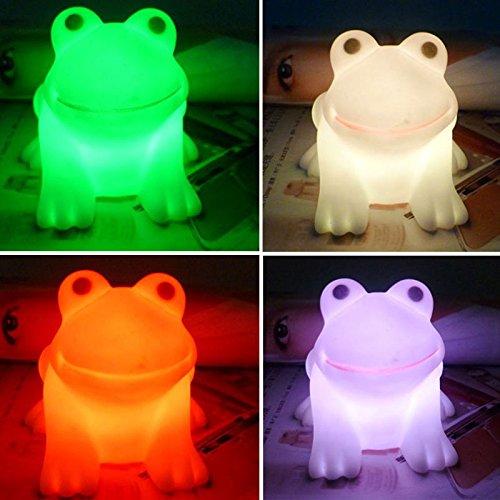 Haihuic LED-nettes Frosch-Nachtlicht Neuheit-Lampe, die Farben-Licht ändert
