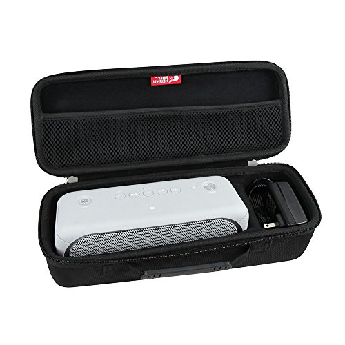 Hermitshell Hard EVA Travel Black Case Fits Sony XB30 Portable Wireless Speaker Bluetooth (2017 Model) - Fits The Wall Charger