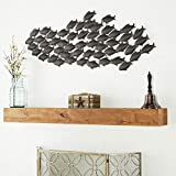 Deco 79 Metal Fish Wall Decor, 53 by 20-Inch, School Of Fish