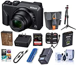 $514 » Nikon COOLPIX A1000 16MP Compact Camera, 35x Zoom, 4K UHD Video - Bundle with 32GB SDHC Card, Camera Bag, Sapre Battery, Charger, Table Top Tripod, Cleaning Kit, Memory Wallet, Software Pack and More