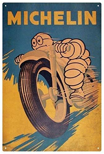 Michelin Man Motorrad Vintage Blechschild 20X30Cm