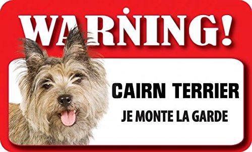 Plaque Cairn Terrier Je Monte La Garde