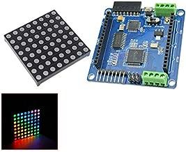 Full Color Rainbow V20 Dot Matrix RGB LED Driver Shield + LED RGB Matrix Module Driver Board 8 for Arduino AVR