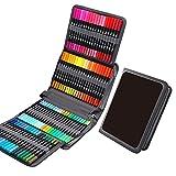 Juego de marcadores de rotuladores de Pincel para Colorear, Juego de marcadores de Arte de 120 Colores, Juego de marcadores de Punta Fina de Puntas Dobles para Dibujo de Adultos