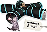 Best Cat Tunnels - 5 Way Cat Tunnel, Cat Toys with Bells Review