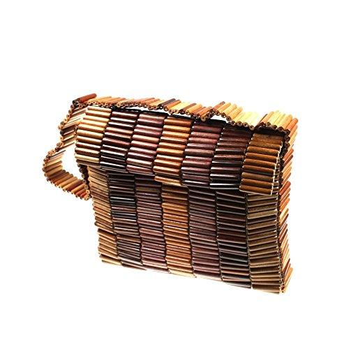 Handtasche Schopper Damenhandtasche Schultertasche Tasche Holz HHT3