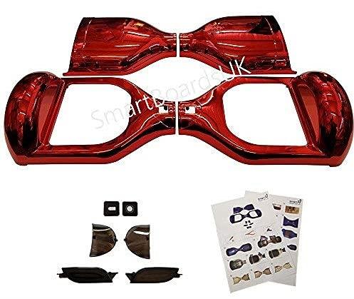 CHROME 6.5 'Hoverboard Shell de plástico - Swegway caso de 6,5 pulgadas marco Segway 2 ruedas Smart Balance Scooter plásticos (Rojo)