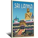 Vintage-Reise-Poster Sri Lanka, Leinwand-Kunst, Poster,