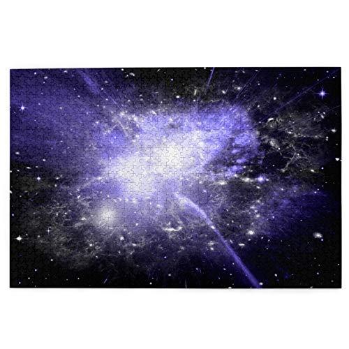 LINARUBE Rompecabezas de 1000 Piezas,Rompecabezas de imágenes,Estrellas Planeta Galaxy Elementos de Espacio Libre,Juguetes Puzzle for Adultos niños Interesante Juego Juguete Decoración para El Hogar