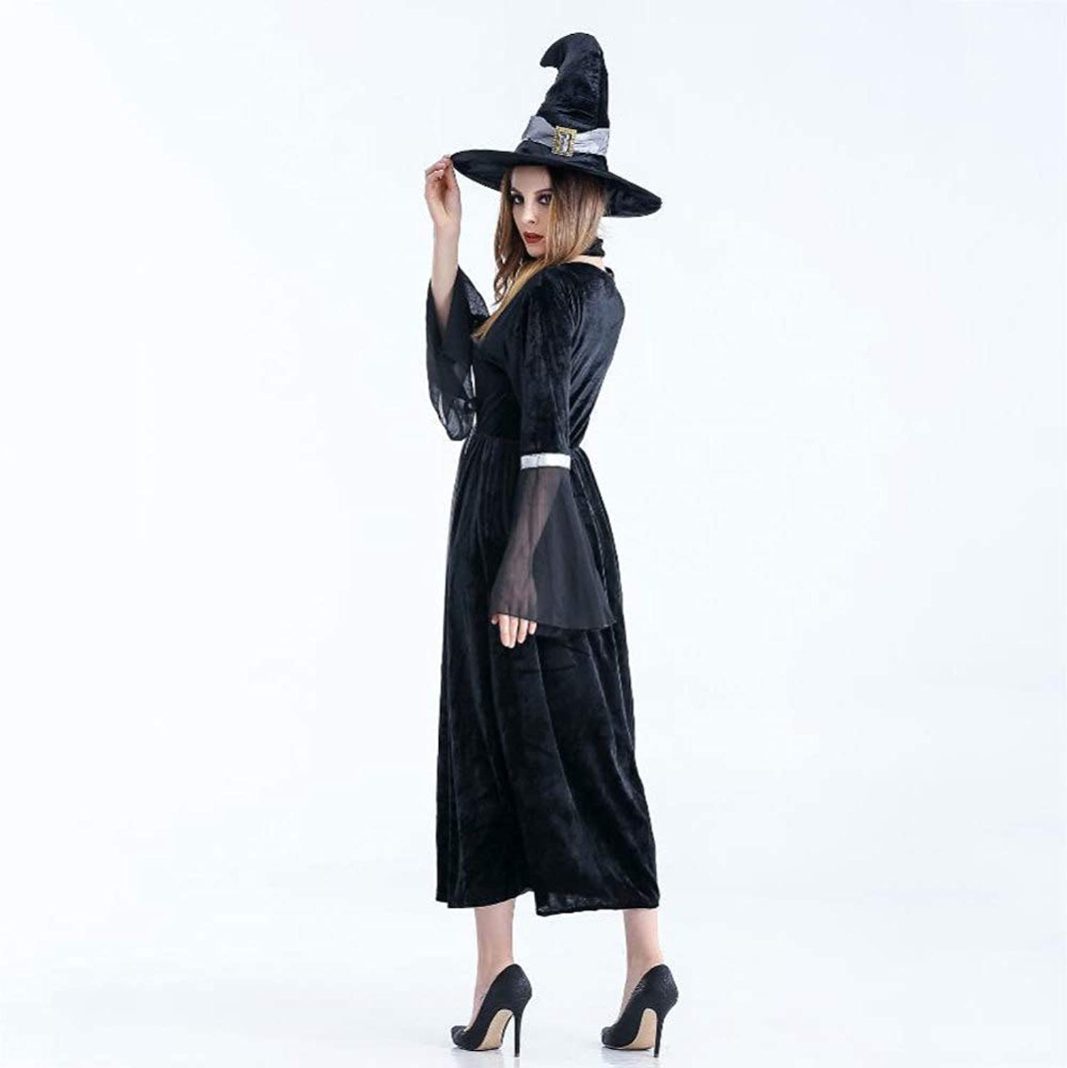Yunfeng Witch Costume Adult Witch Costume Party Costume Vampire Spider Witch Princess Dress