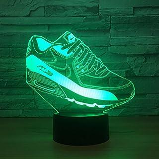 Jinson well 3d Zapatillas de gimnasia lámpara de mesa luz nocturna cambio de 7 colores LED luz de noche para Decor Regalo