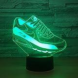 Jinson well 3d Zapatillas de gimnasia lámpara de mesa luz n