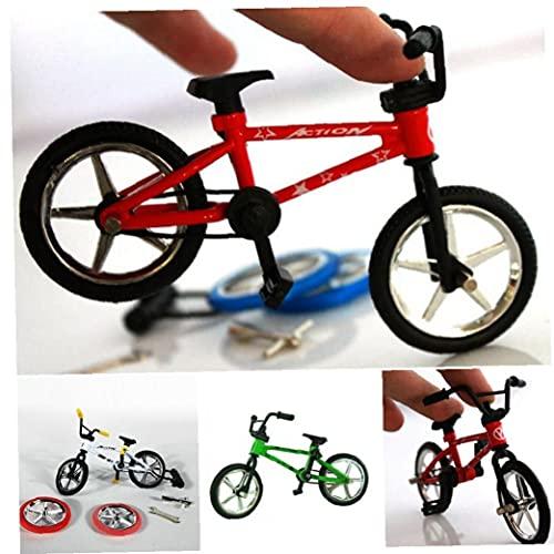 1 Pc Finger Bicicleta Juguete Aleación Niños Niño Mini Conjunto Bicicletas Modelo Simulación En Miniatura Regalo