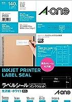 (まとめ買い) エーワン ラベルシール インクジェット 光沢紙 14面 10枚 29233 【×3】
