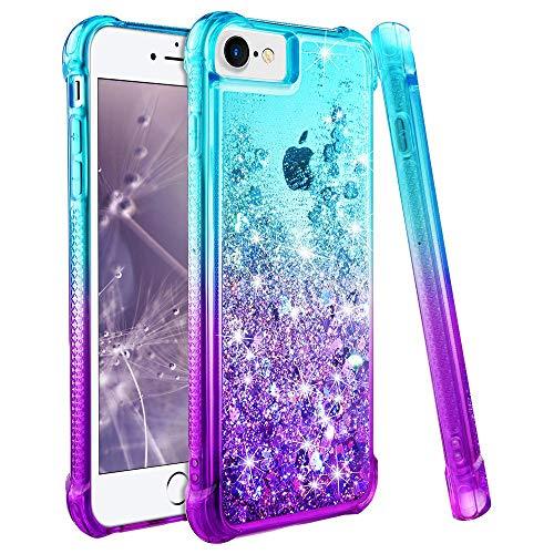wlooo iPhone 6s Hülle, Handyhülle iPhone 6S, Handyhülle iPhone 7, iPhone 6 Hülle, Handyhülle iPhone 8, Handyhülle iPhone 6, iPhone 7 Hülle Mädchen, iPhone SE 2020 Hülle (Teal Violet)