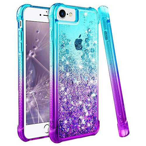 wlooo iPhone 6s Hülle, Handyhülle iPhone 6S, Handyhülle iPhone 7, iPhone 6 Hülle, Handyhülle iPhone 8, Handyhülle iPhone 6, iPhone 7 Hülle Mädchen, iPhone SE 2020 Hülle (Teal Violet)