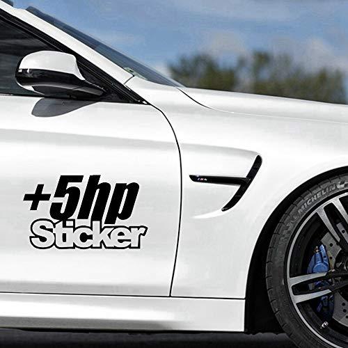 12.5X7.4Cm +5 Hp Sticker Decal Car Sticker Jdm Truck Window Funny Drift Car Stickers