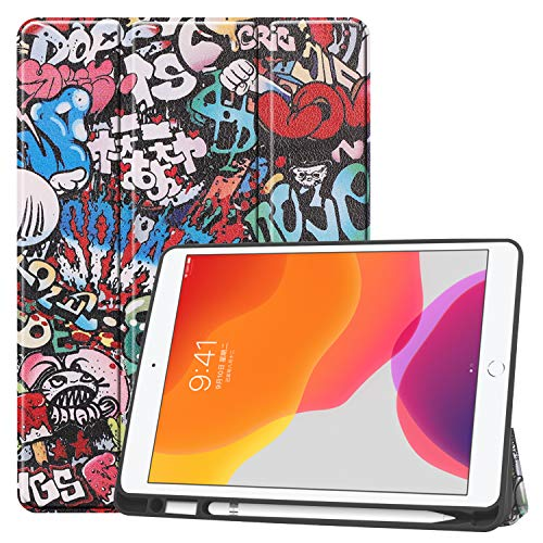 GoYi Case Compatible with iPad 10.2' 2019/2020, iPad 7th/8th Generation Shockproof Cover with Pencil Holder Auto Wake/Sleep Kickstand for iPad 10.2 Inch-TY