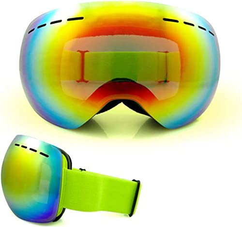 He-yanjing Lunettes de Ski Anti-buée pour Skis de Neige Glasses Lunettes Sport intelligentes Glasses Lunettes de Ski à Simple et Double Planche pour Les Hommes et Les Femmes (Couleur   Vert)