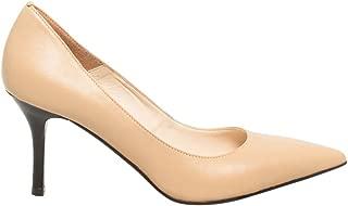 LE CHÂTEAU Leather Pointed Toe Mid Heel Pump